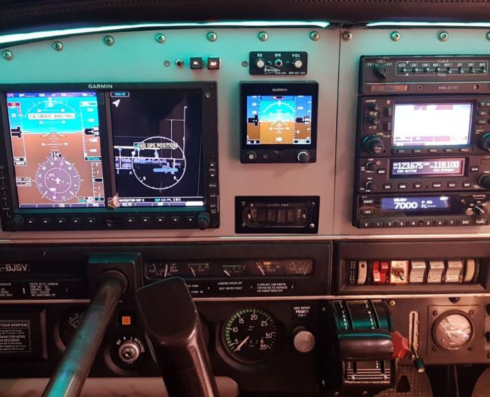 Piper Warrior Glass Cockpit