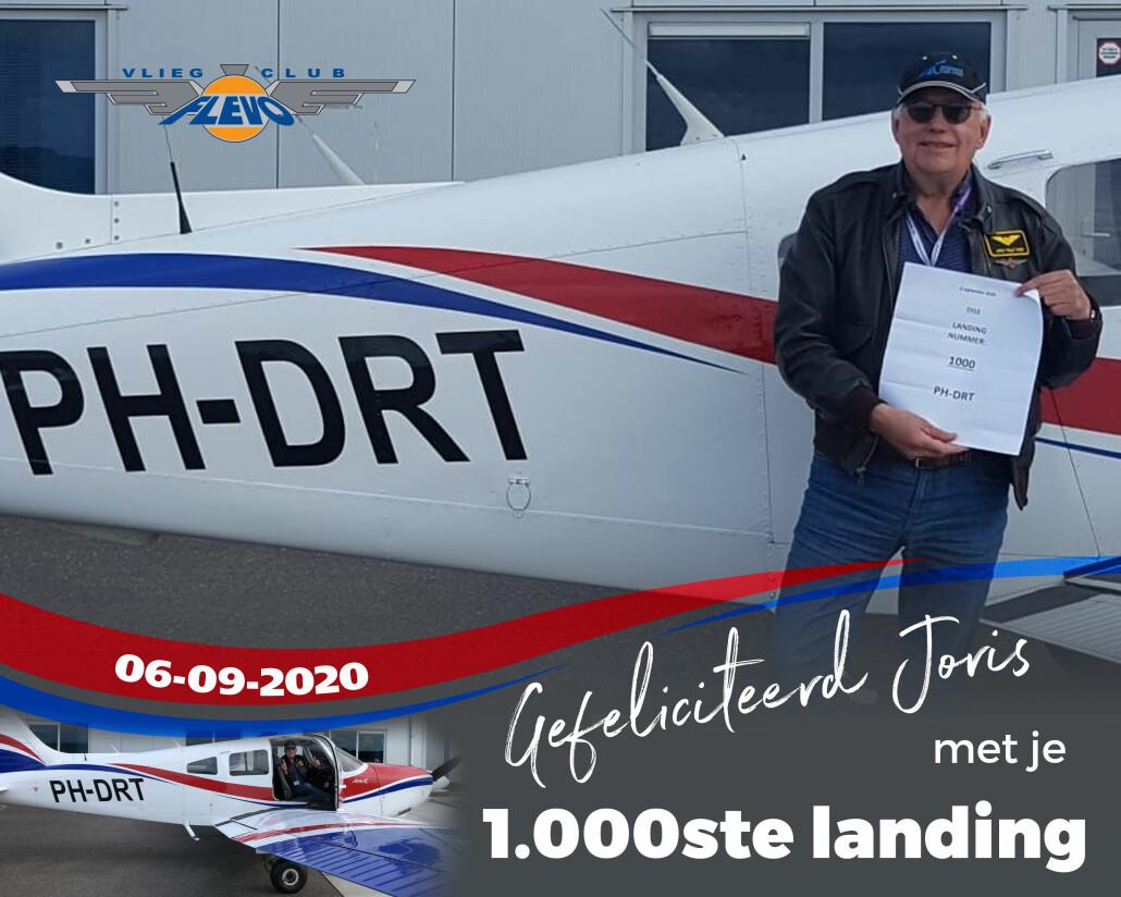 Joris-1000ste-landing-DRT-2020